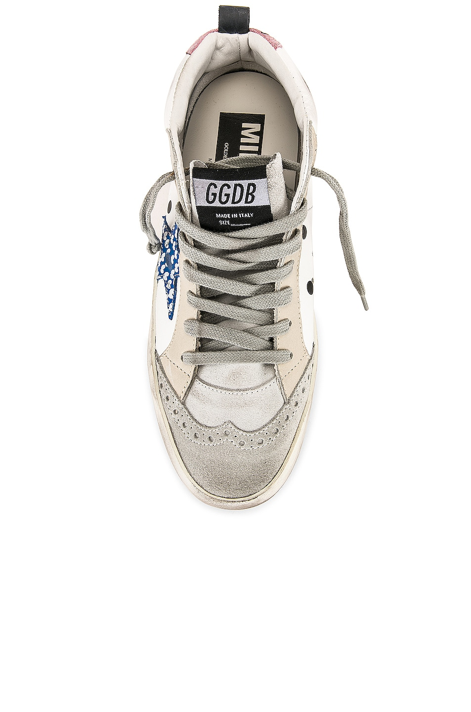 Image 4 of Golden Goose Mid Star Sneakers in White Dot