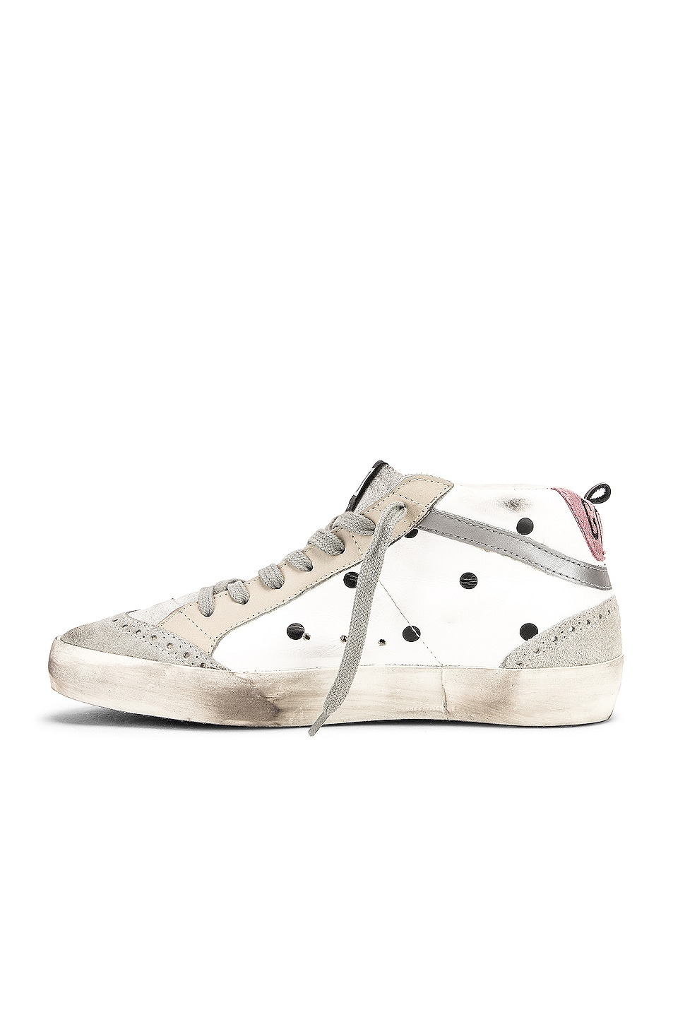Image 5 of Golden Goose Mid Star Sneakers in White Dot