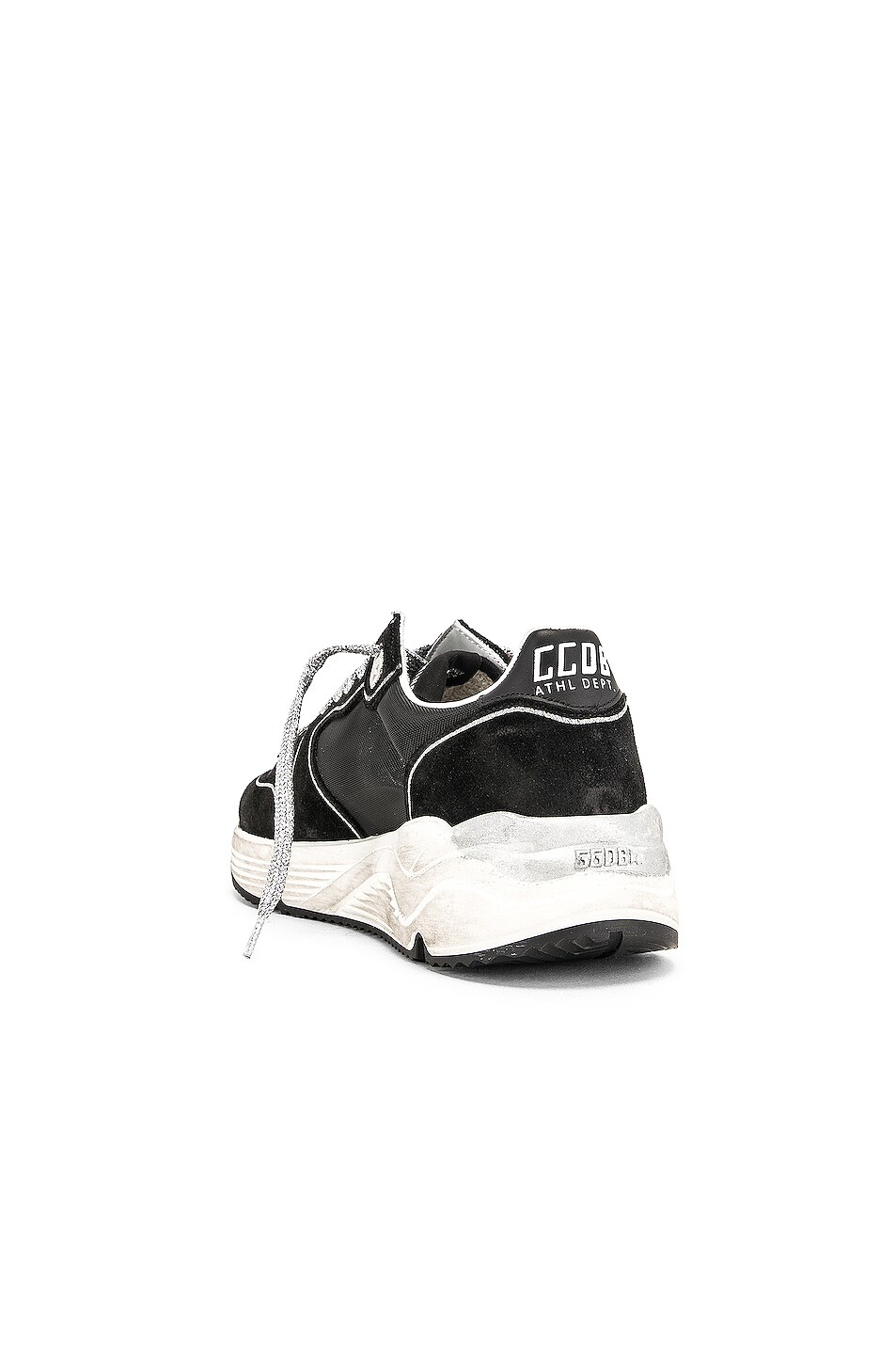 Image 3 of Golden Goose Running Sole Sneakers in Black & Red Star