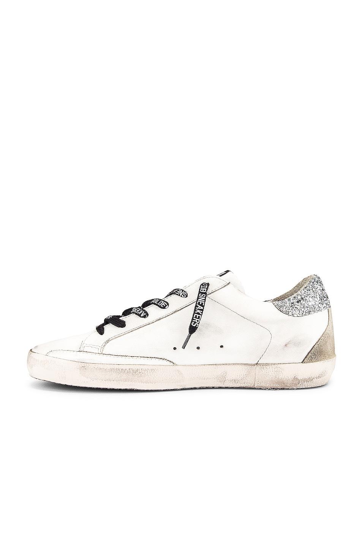 Image 5 of Golden Goose Superstar Sneaker in White & Silver Glitter