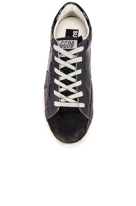 Image 4 of Golden Goose Superstar Sneaker in Black Snake Leather & Black