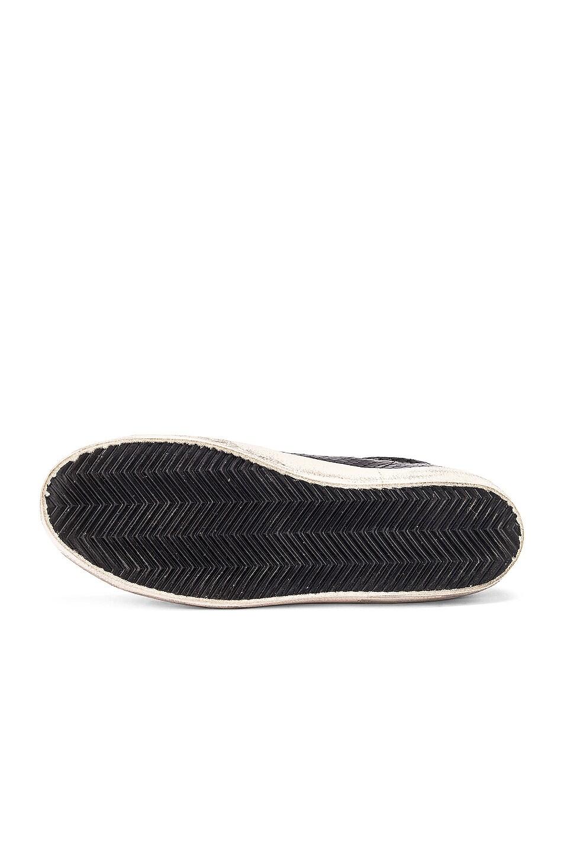 Image 6 of Golden Goose Superstar Sneaker in Black Snake Leather & Black