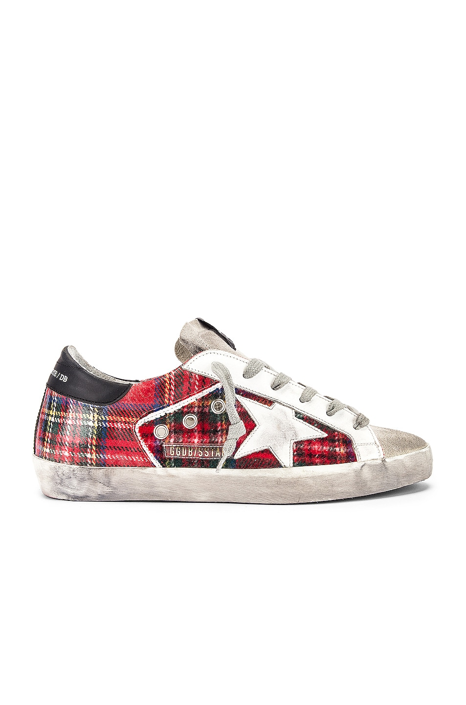 Image 1 of Golden Goose Superstar Sneaker in Double Check & White