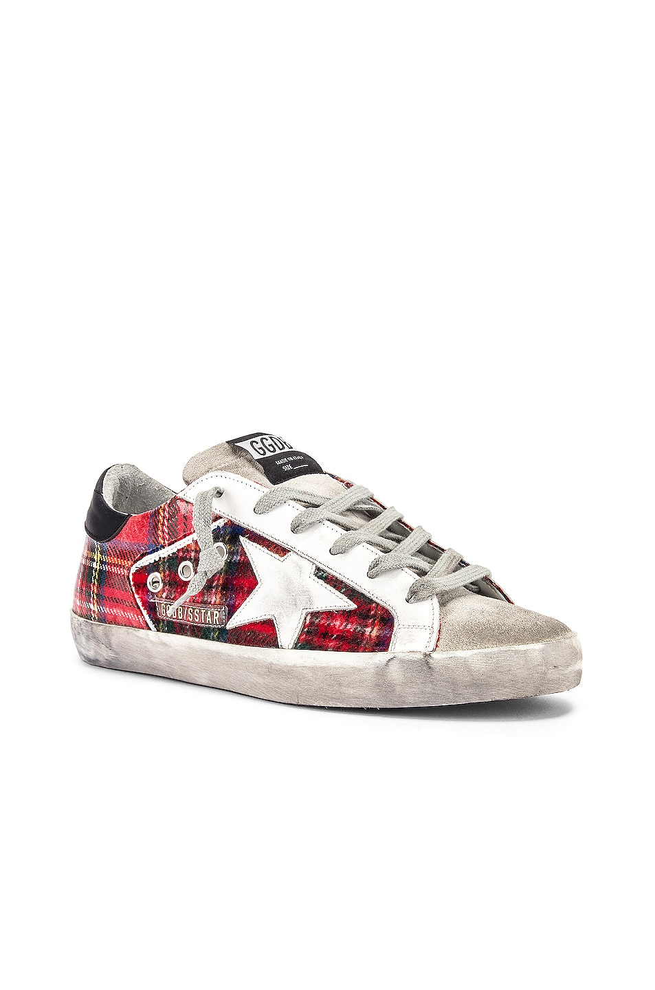 Image 2 of Golden Goose Superstar Sneaker in Double Check & White