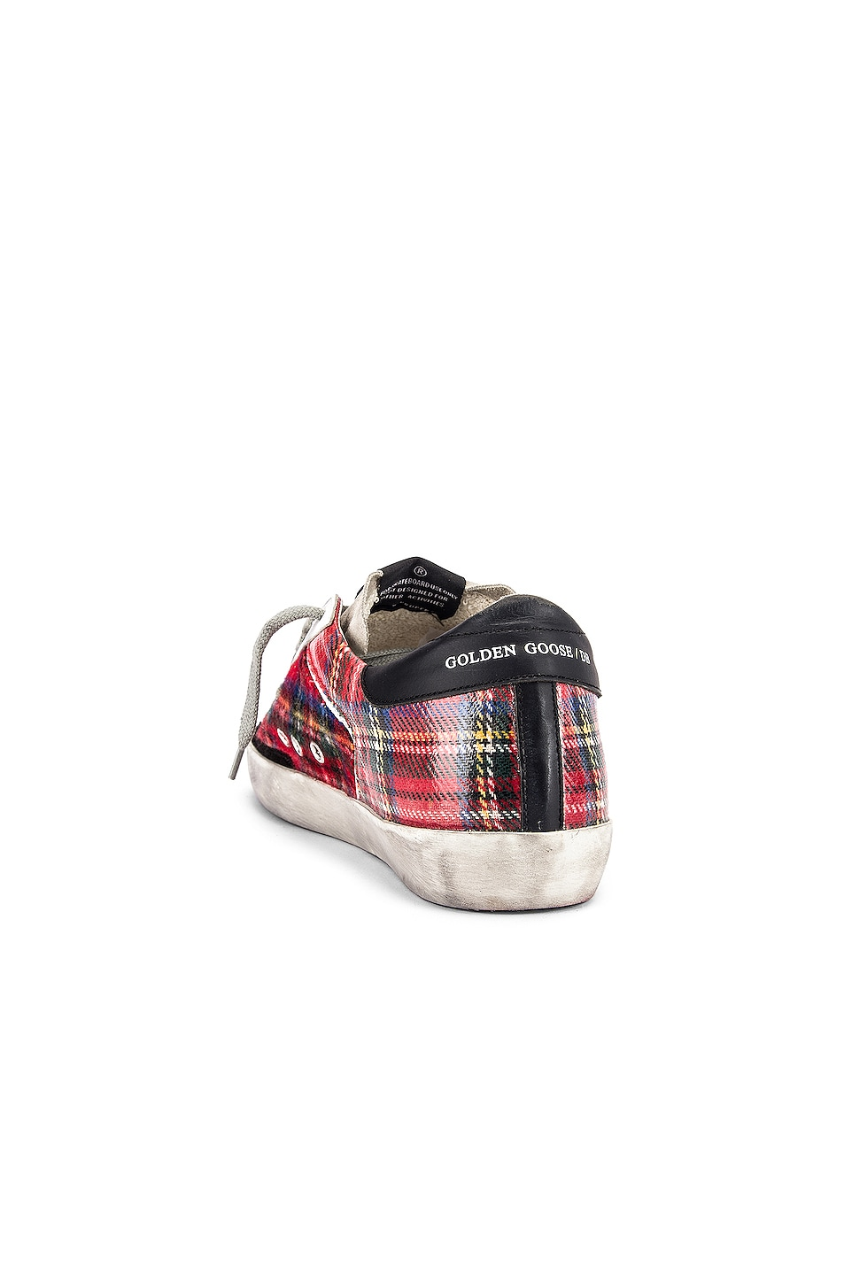 Image 3 of Golden Goose Superstar Sneaker in Double Check & White