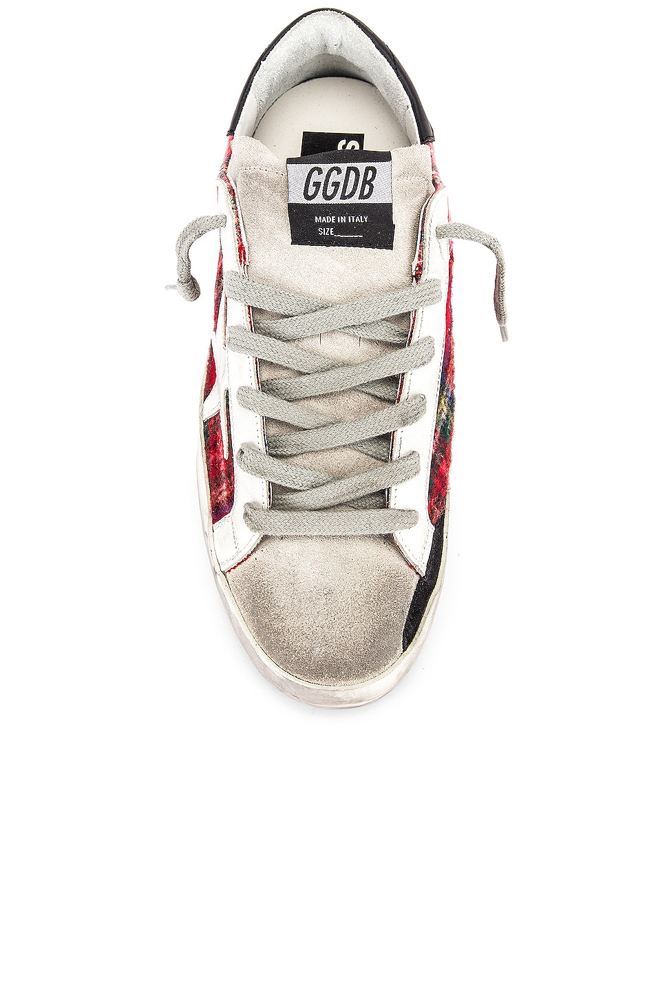 Image 4 of Golden Goose Superstar Sneaker in Double Check & White
