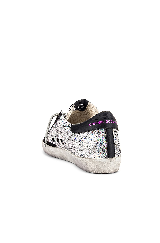 Image 3 of Golden Goose Superstar Sneaker in Rainbow Glitter & Fuchsia