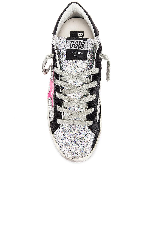 Image 4 of Golden Goose Superstar Sneaker in Rainbow Glitter & Fuchsia