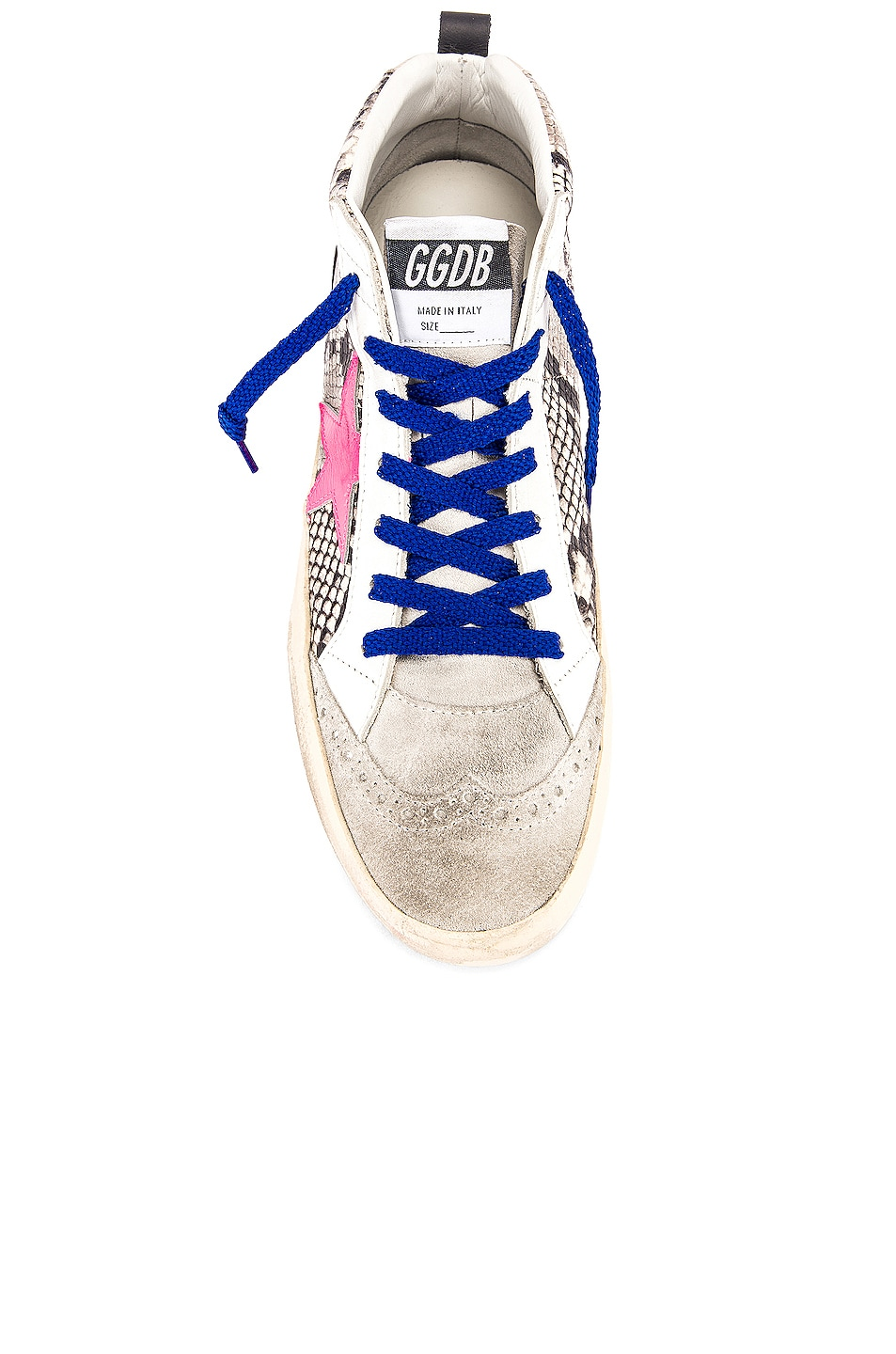 Image 4 of Golden Goose Mid Star Sneaker in Rock Snake & Fuchsia