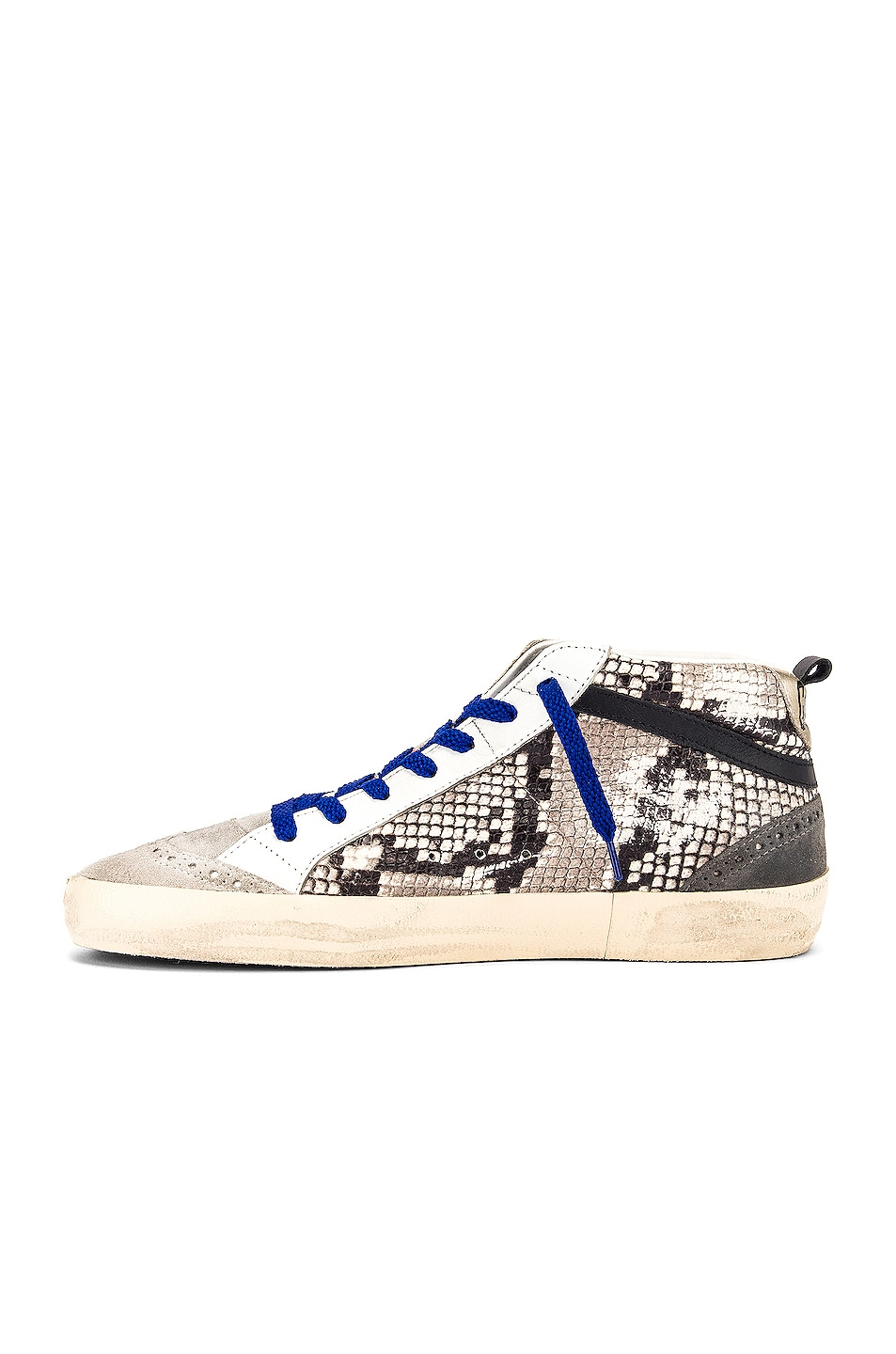 Image 5 of Golden Goose Mid Star Sneaker in Rock Snake & Fuchsia