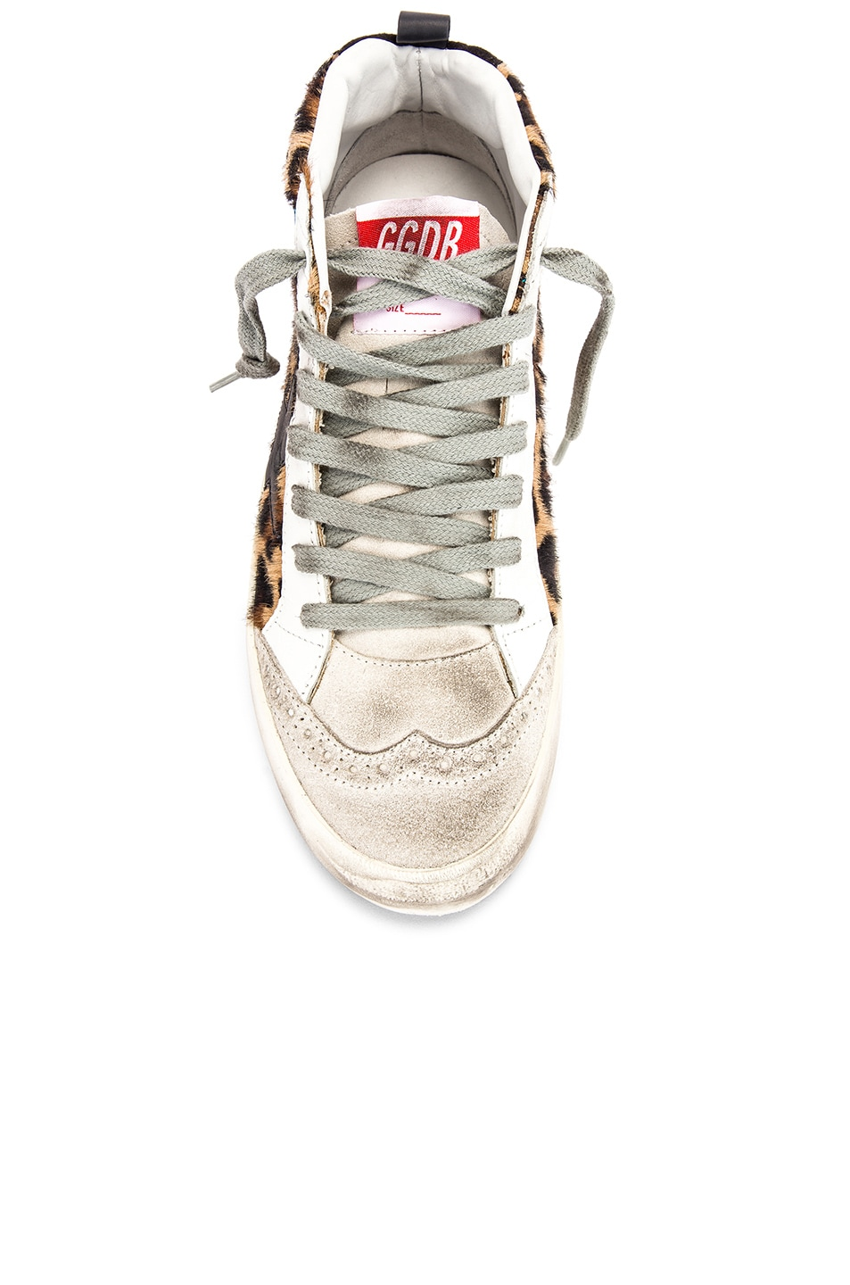 Image 4 of Golden Goose Mid Star Sneaker in Leopard Pony & Black