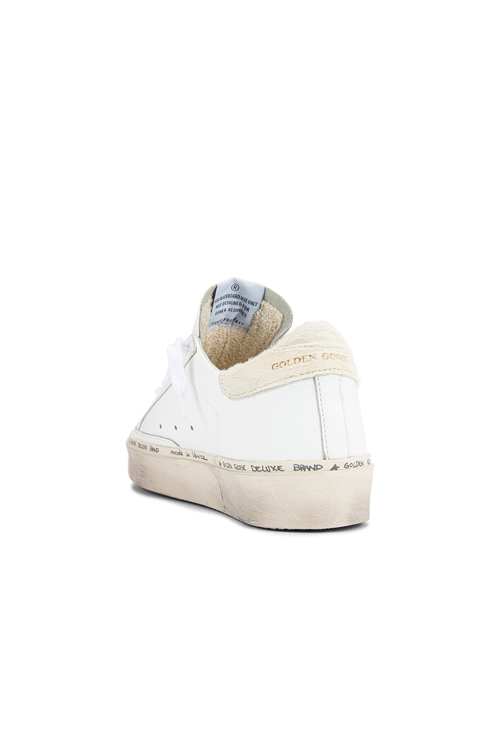 Image 3 of Golden Goose Hi Star Sneaker in White Leather & Carved