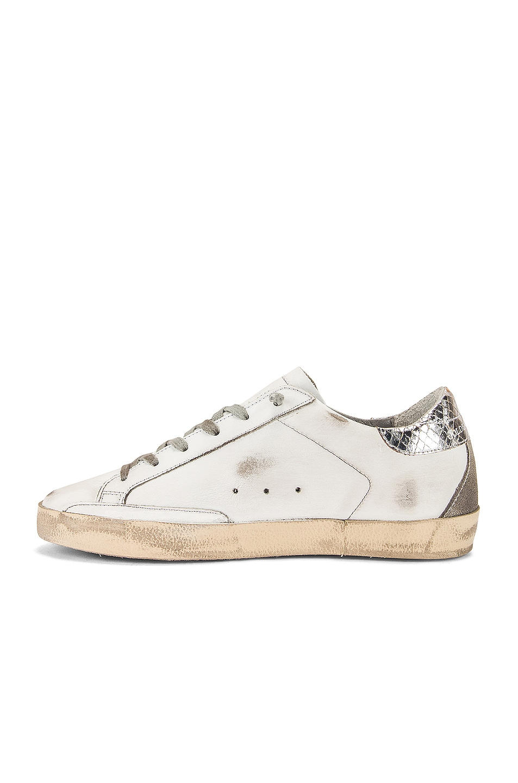 Image 5 of Golden Goose Superstar Sneaker in White, Silver & Cream