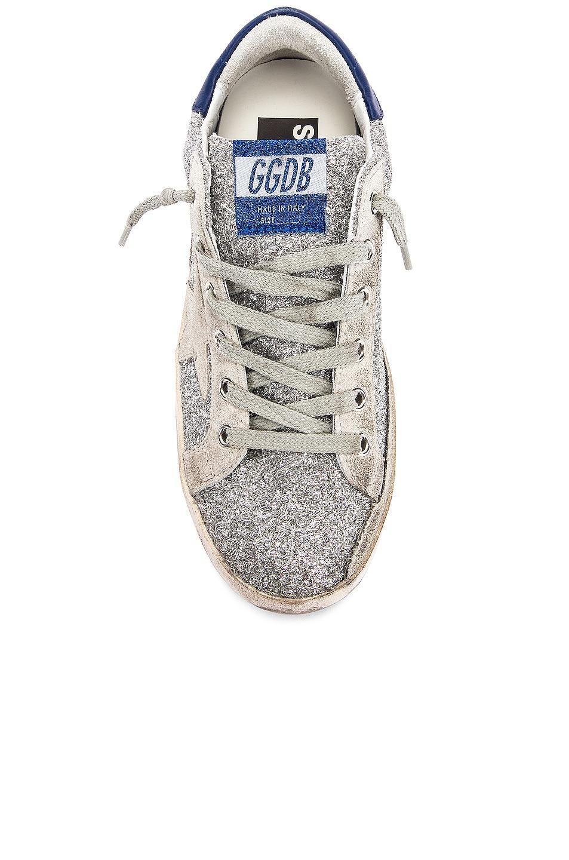 Image 4 of Golden Goose Superstar Sneaker in Silver Glitter Blue