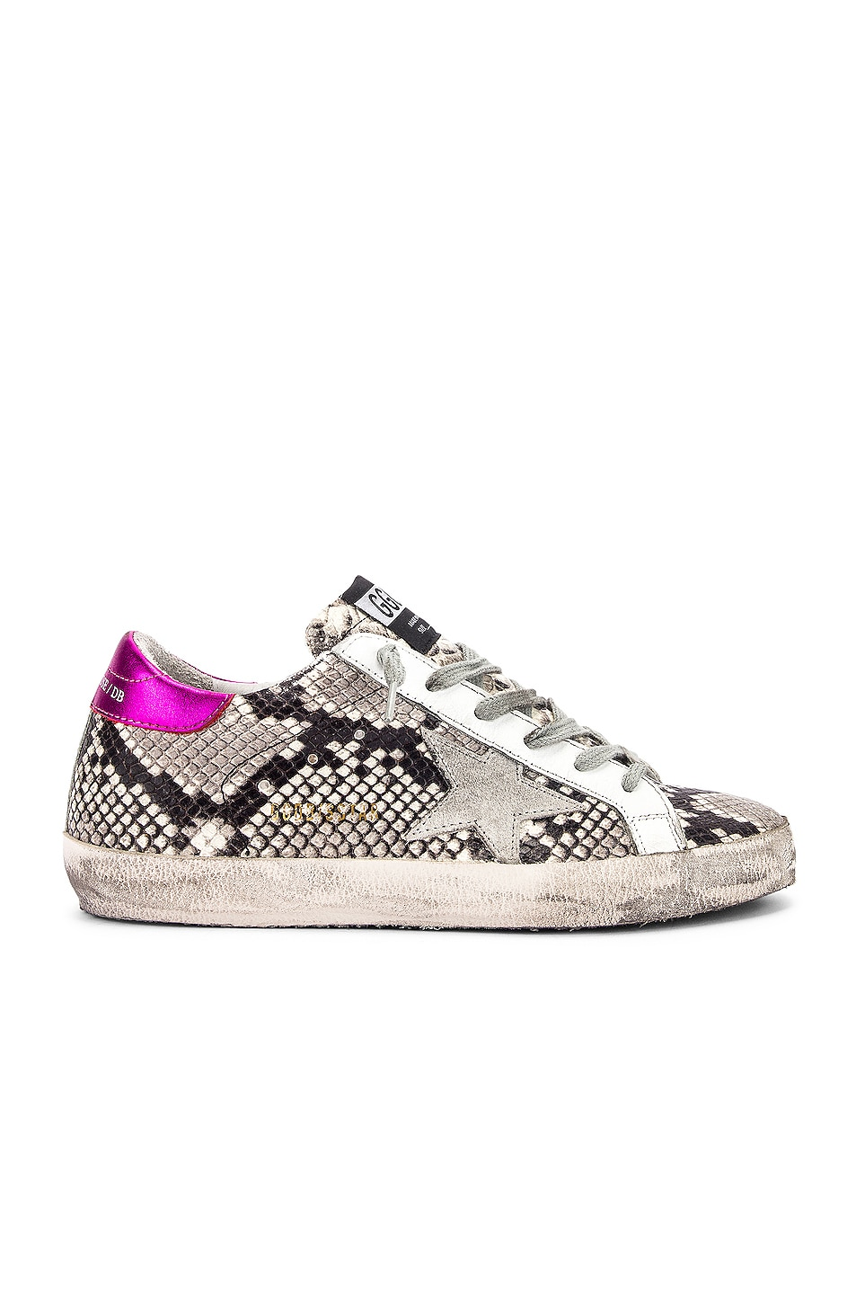 Image 1 of Golden Goose Superstar Sneaker in Natural Snake Print & Ice Star