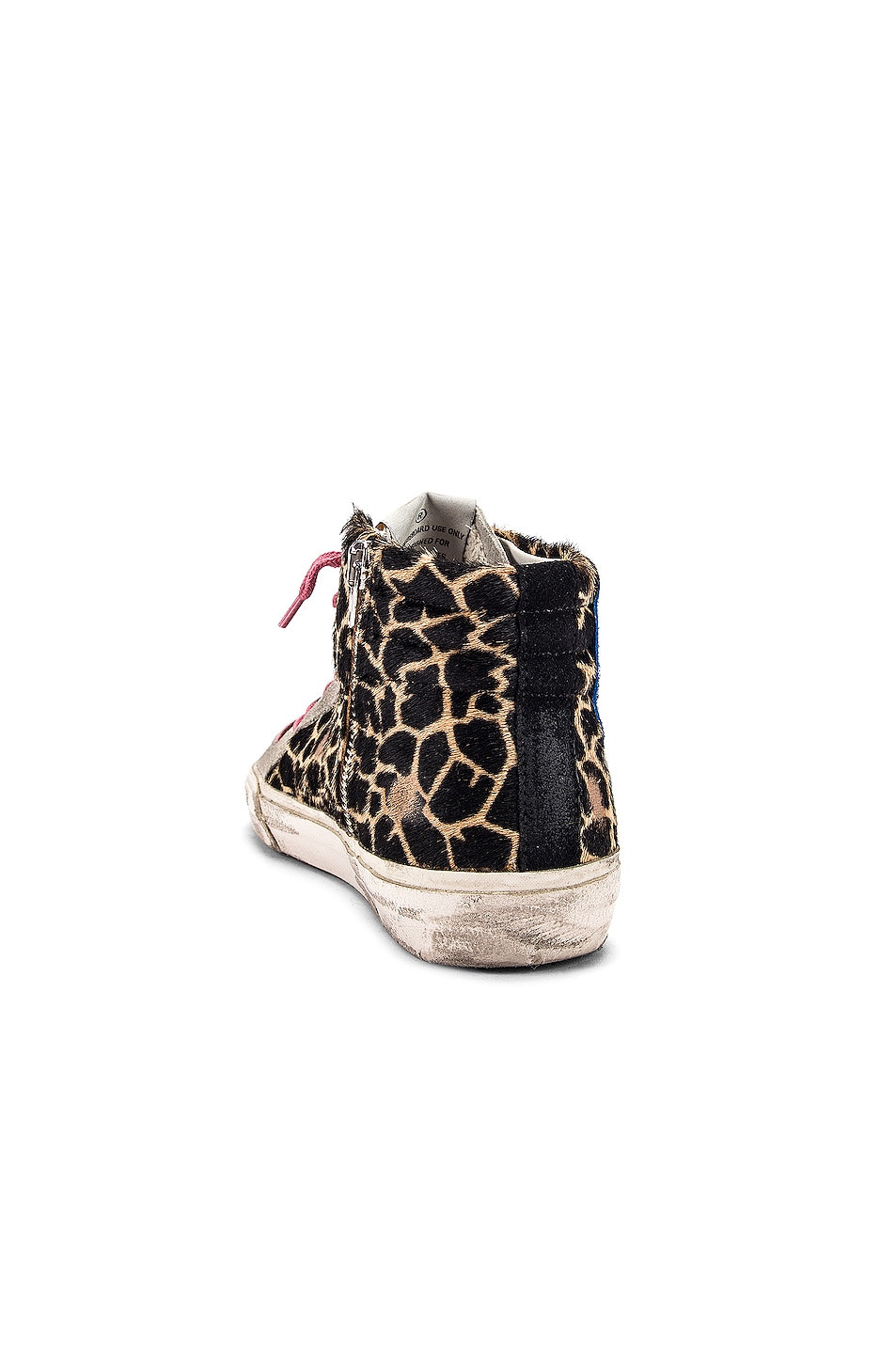 Image 3 of Golden Goose Slide Sneaker in Animalier & Silver Glitter
