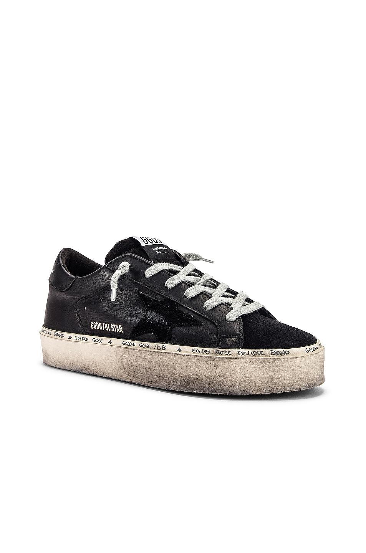 Image 2 of Golden Goose Leather Hi Star Sneaker in Black