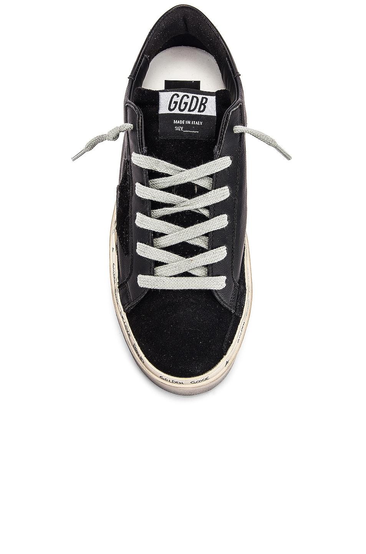 Image 4 of Golden Goose Leather Hi Star Sneaker in Black