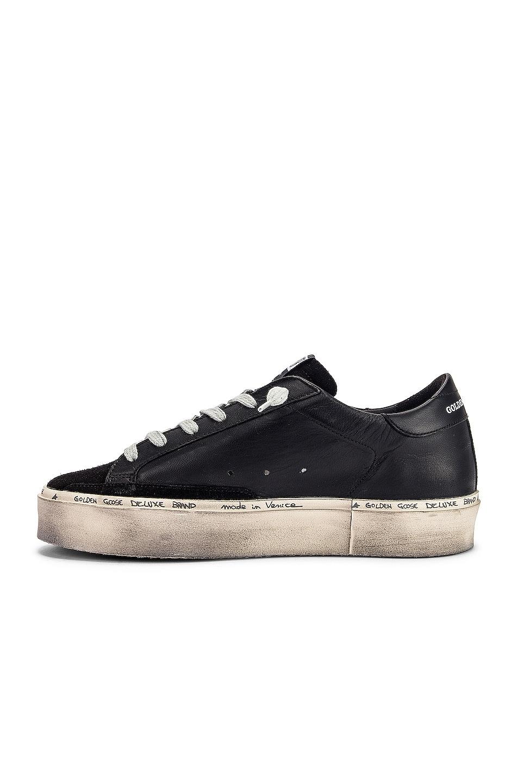 Image 5 of Golden Goose Leather Hi Star Sneaker in Black