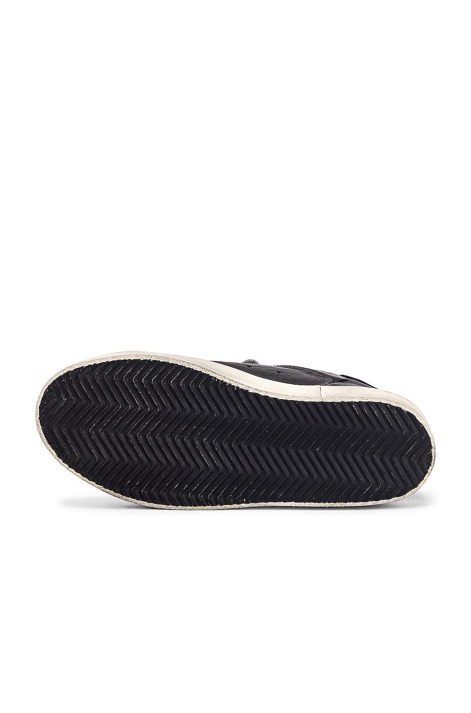 Image 6 of Golden Goose Leather Hi Star Sneaker in Black