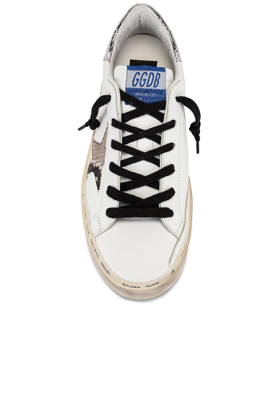 Image 4 of Golden Goose Hi Star Sneaker in White & Natural Snake