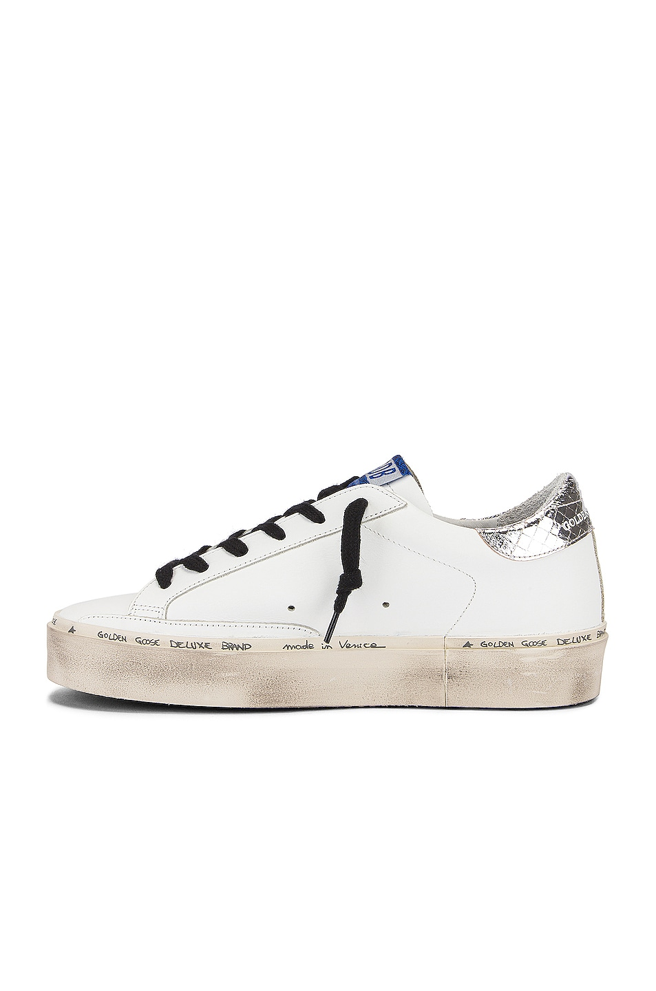 Image 5 of Golden Goose Hi Star Sneaker in White & Natural Snake