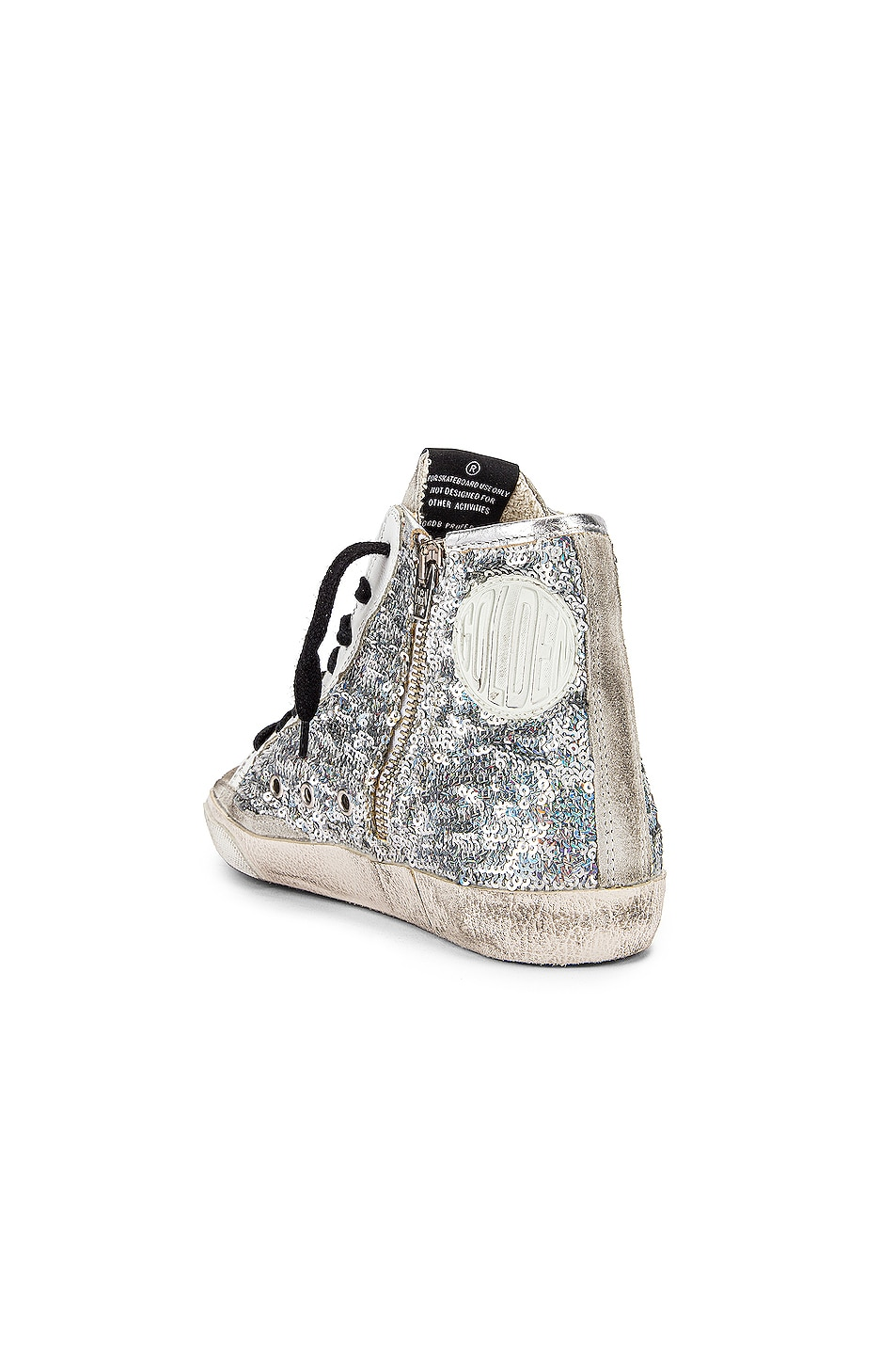 Image 3 of Golden Goose Francy Sneaker in Silver Paillettes & Pink
