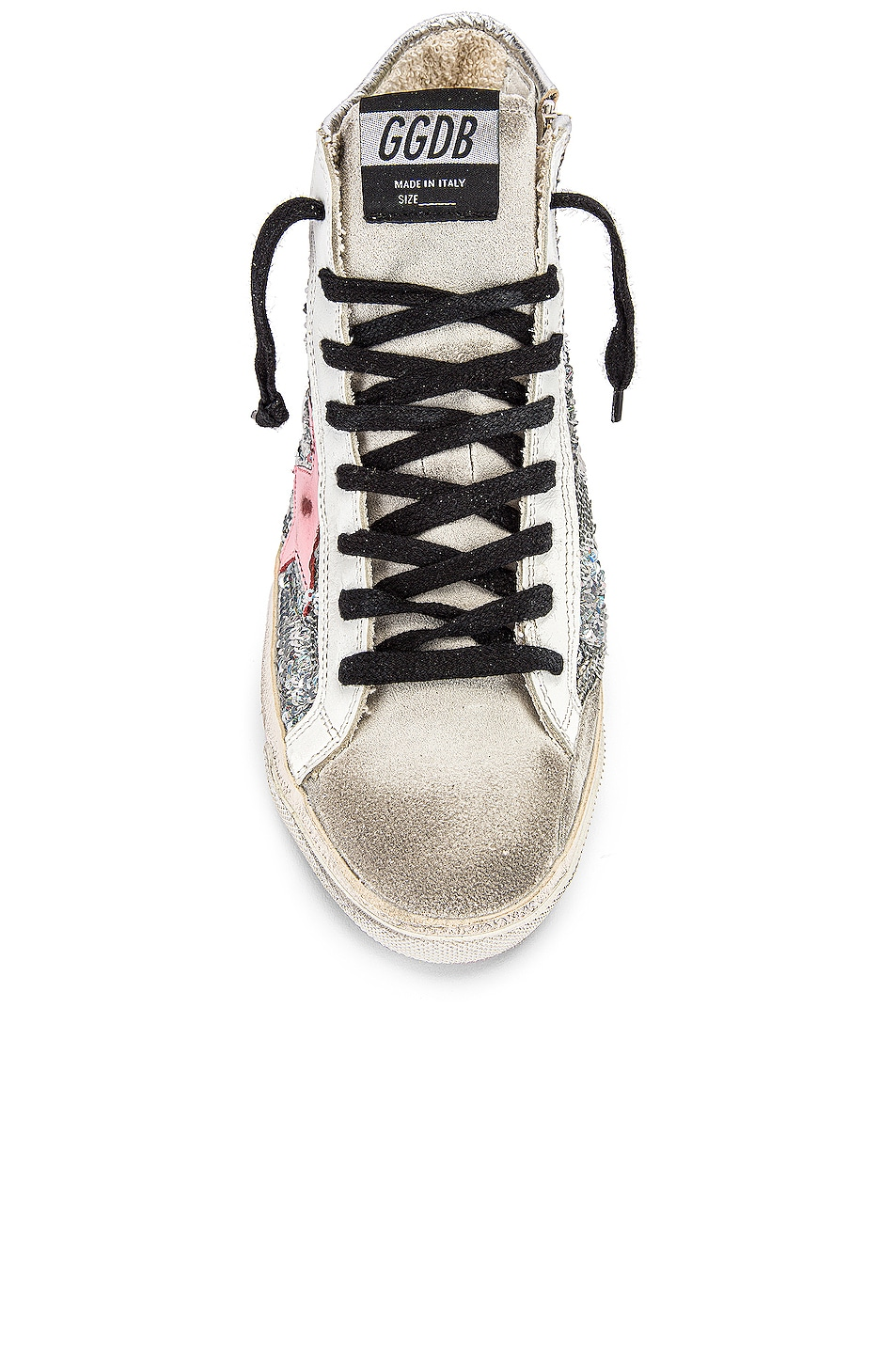 Image 4 of Golden Goose Francy Sneaker in Silver Paillettes & Pink