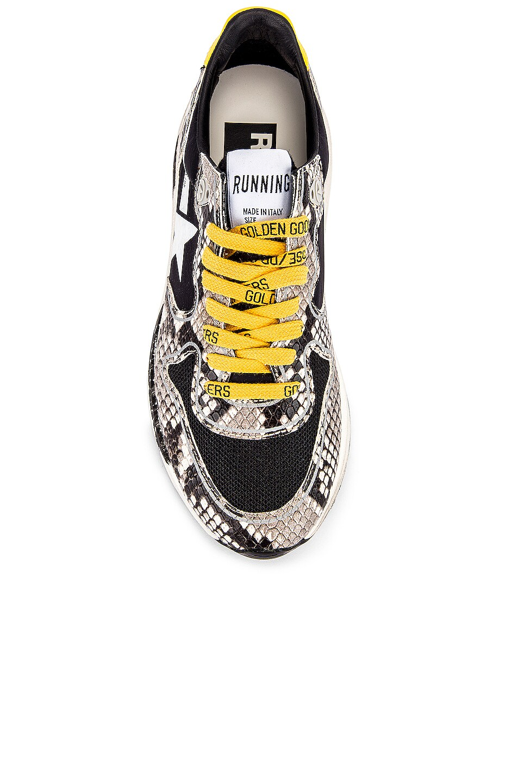 Image 4 of Golden Goose Running Sole Sneaker in Natural Snake Print