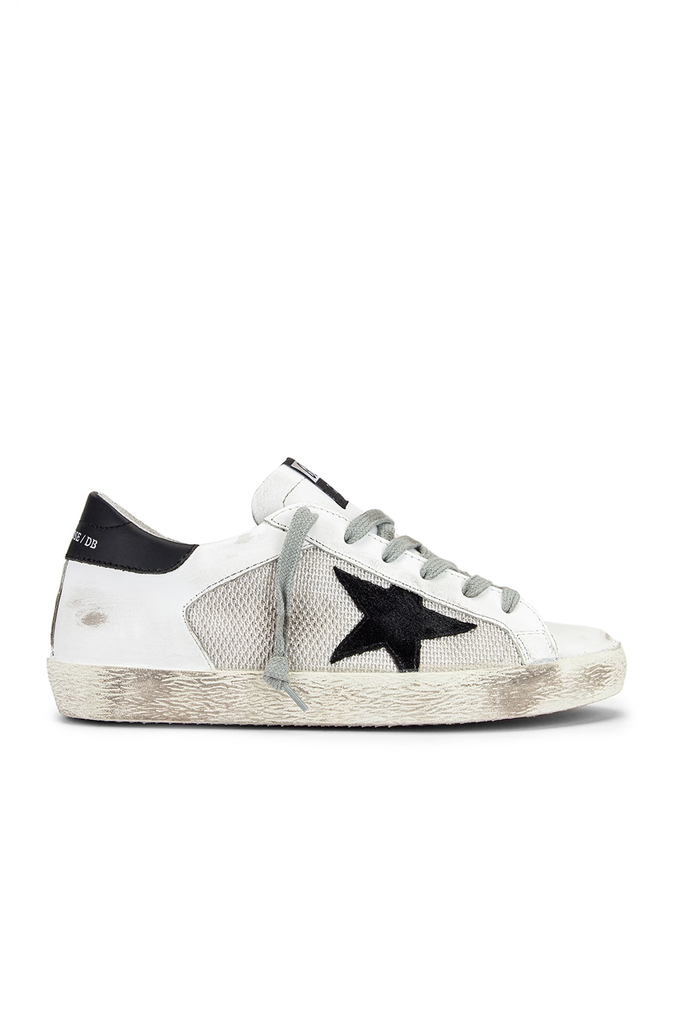 Image 1 of Golden Goose Superstar Sneaker in White & Grey Corduroy