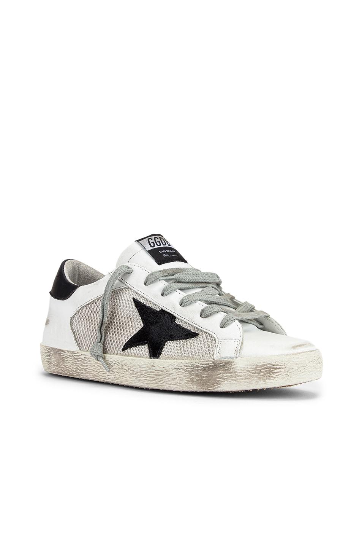 Image 2 of Golden Goose Superstar Sneaker in White & Grey Corduroy