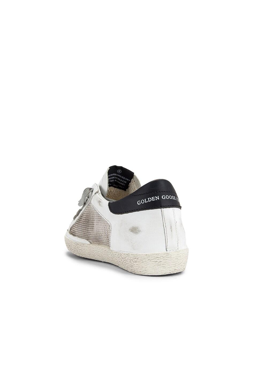 Image 3 of Golden Goose Superstar Sneaker in White & Grey Corduroy