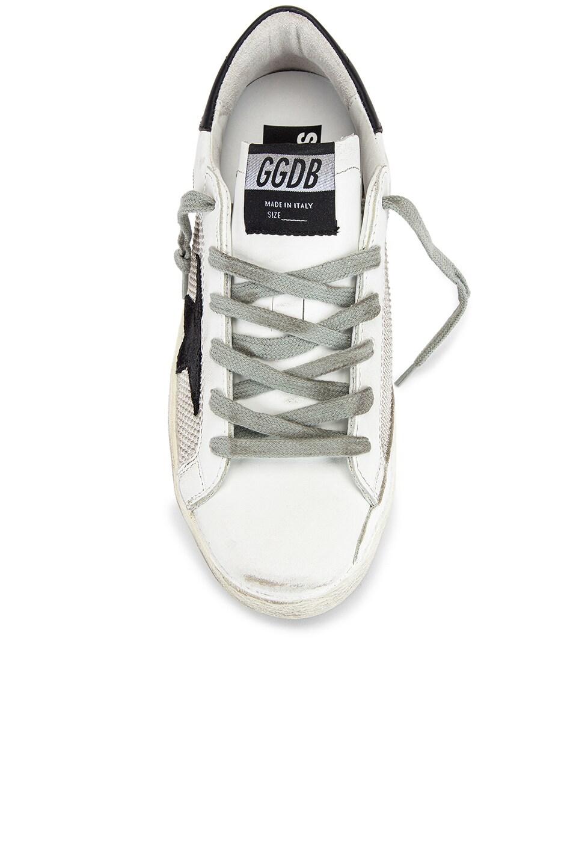 Image 4 of Golden Goose Superstar Sneaker in White & Grey Corduroy