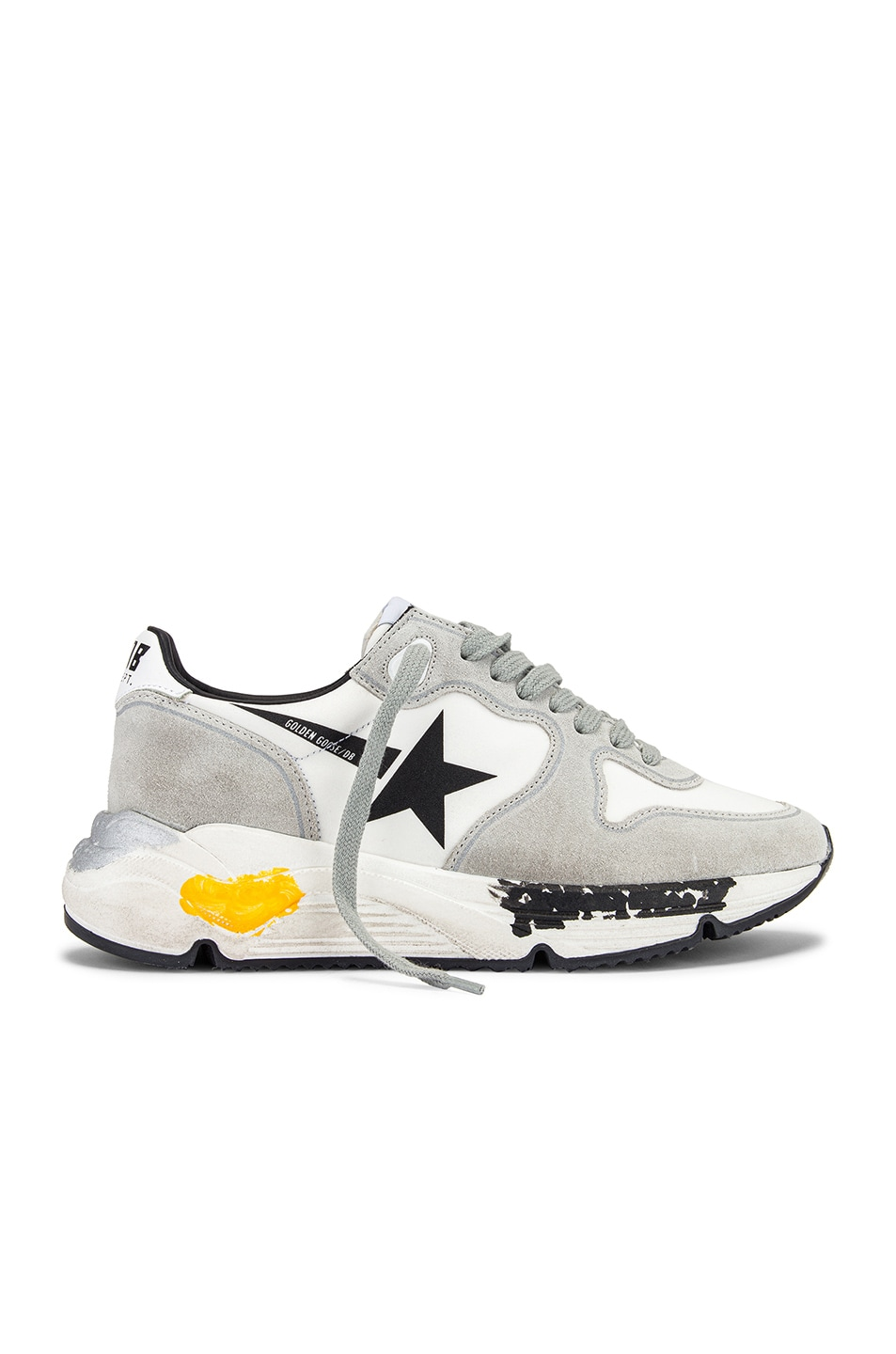 Image 1 of Golden Goose Running Sole Sneaker in White Lycra & Black