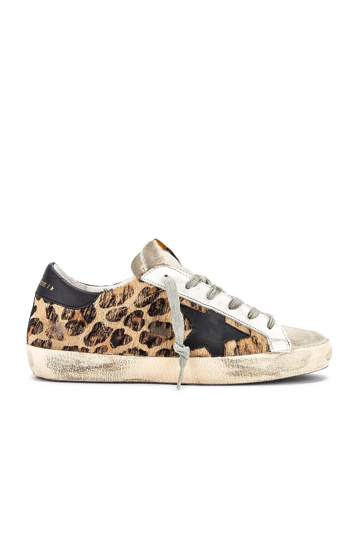 Image 1 of Golden Goose Superstar Sneaker in Snow Leopard & Black