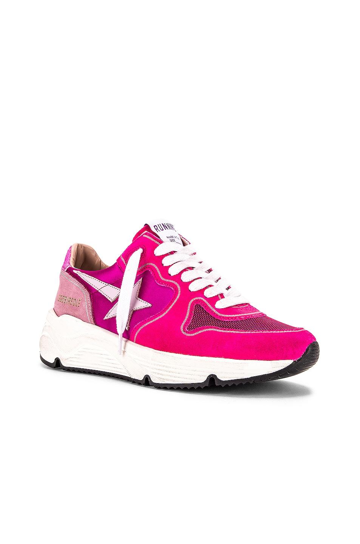 Image 2 of Golden Goose Running Sole Sneaker in Fuchsia & Pink Glitter