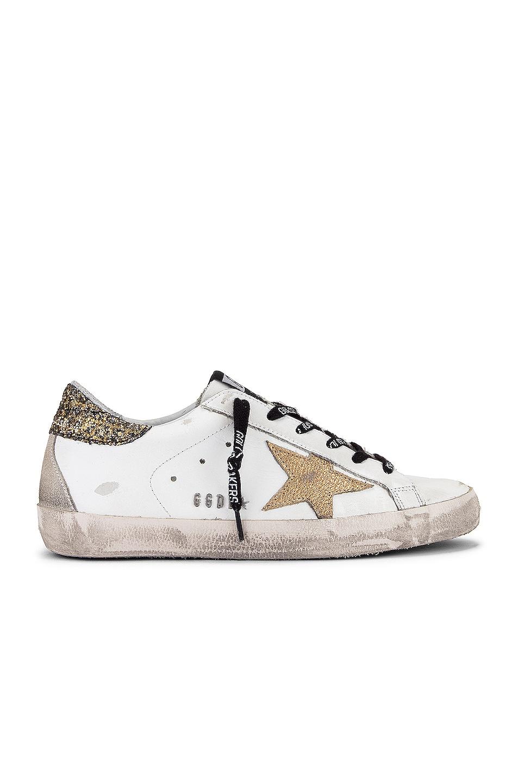 Image 1 of Golden Goose Superstar Sneaker in White, Cocco Glitter & Gold
