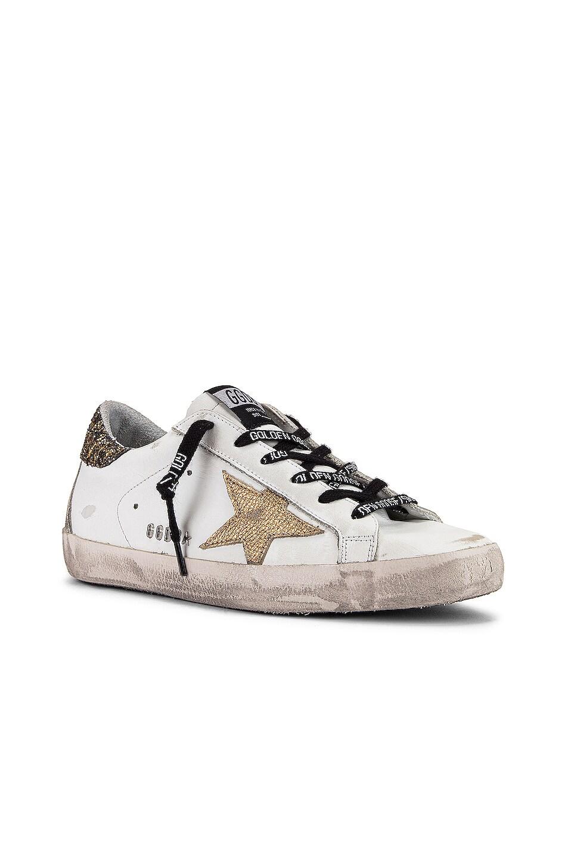 Image 2 of Golden Goose Superstar Sneaker in White, Cocco Glitter & Gold