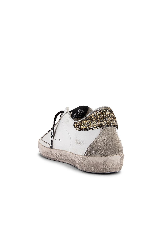 Image 3 of Golden Goose Superstar Sneaker in White, Cocco Glitter & Gold