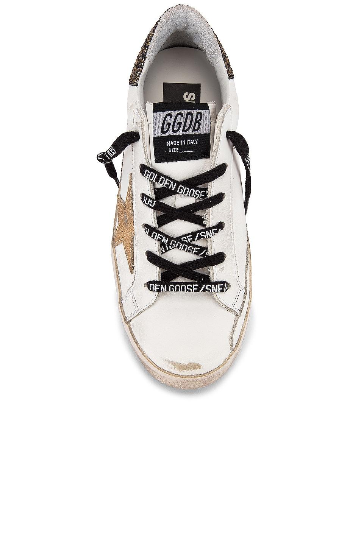 Image 4 of Golden Goose Superstar Sneaker in White, Cocco Glitter & Gold