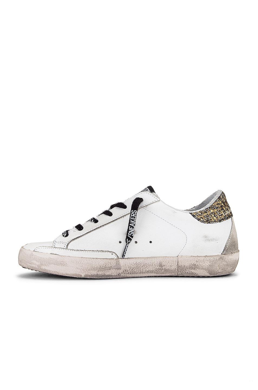 Image 5 of Golden Goose Superstar Sneaker in White, Cocco Glitter & Gold
