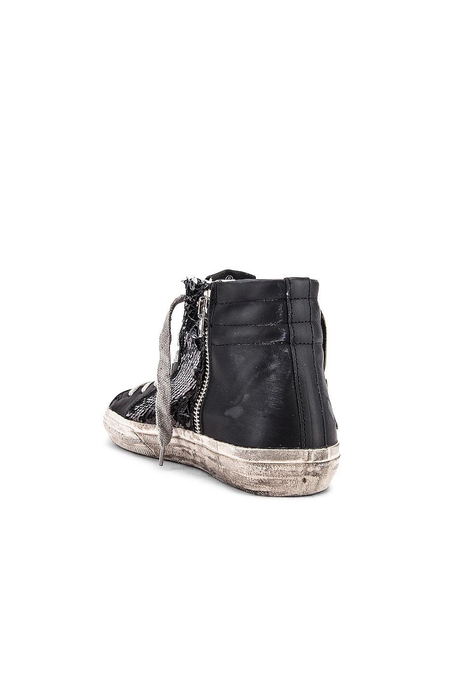 Image 3 of Golden Goose Slide Sneaker in Black, Paillettes & Ice