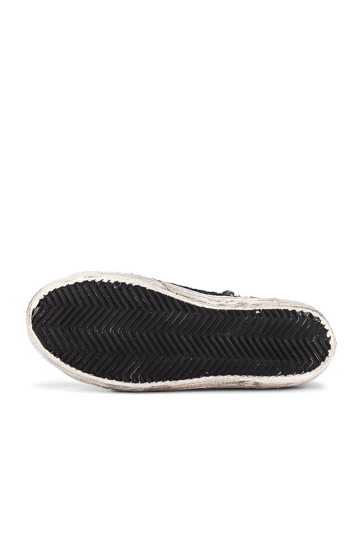 Image 6 of Golden Goose Slide Sneaker in Black, Paillettes & Ice