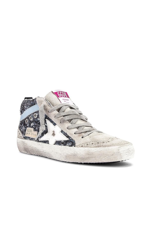 Image 2 of Golden Goose Mid Star Sneaker in Multicolor & White