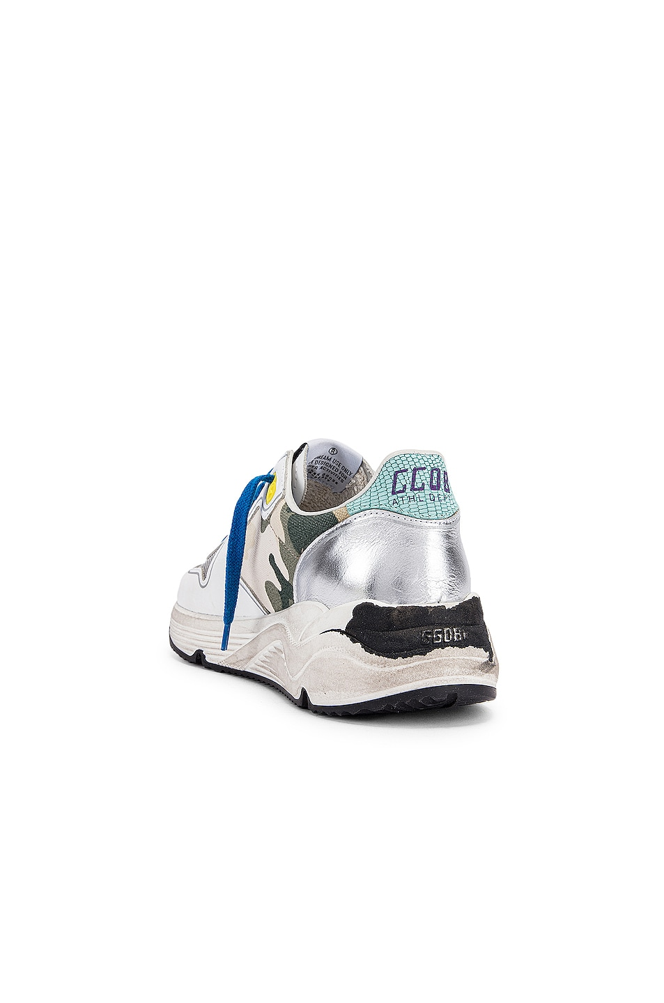 Image 3 of Golden Goose Running Sole Sneaker in White & Camouflage