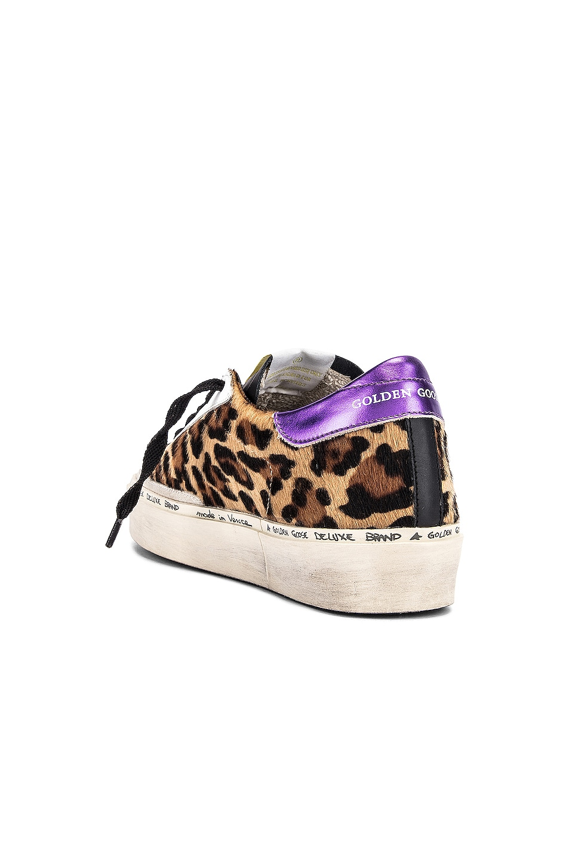 Image 3 of Golden Goose Hi Star Sneaker in Snow Leopard, Purple & White