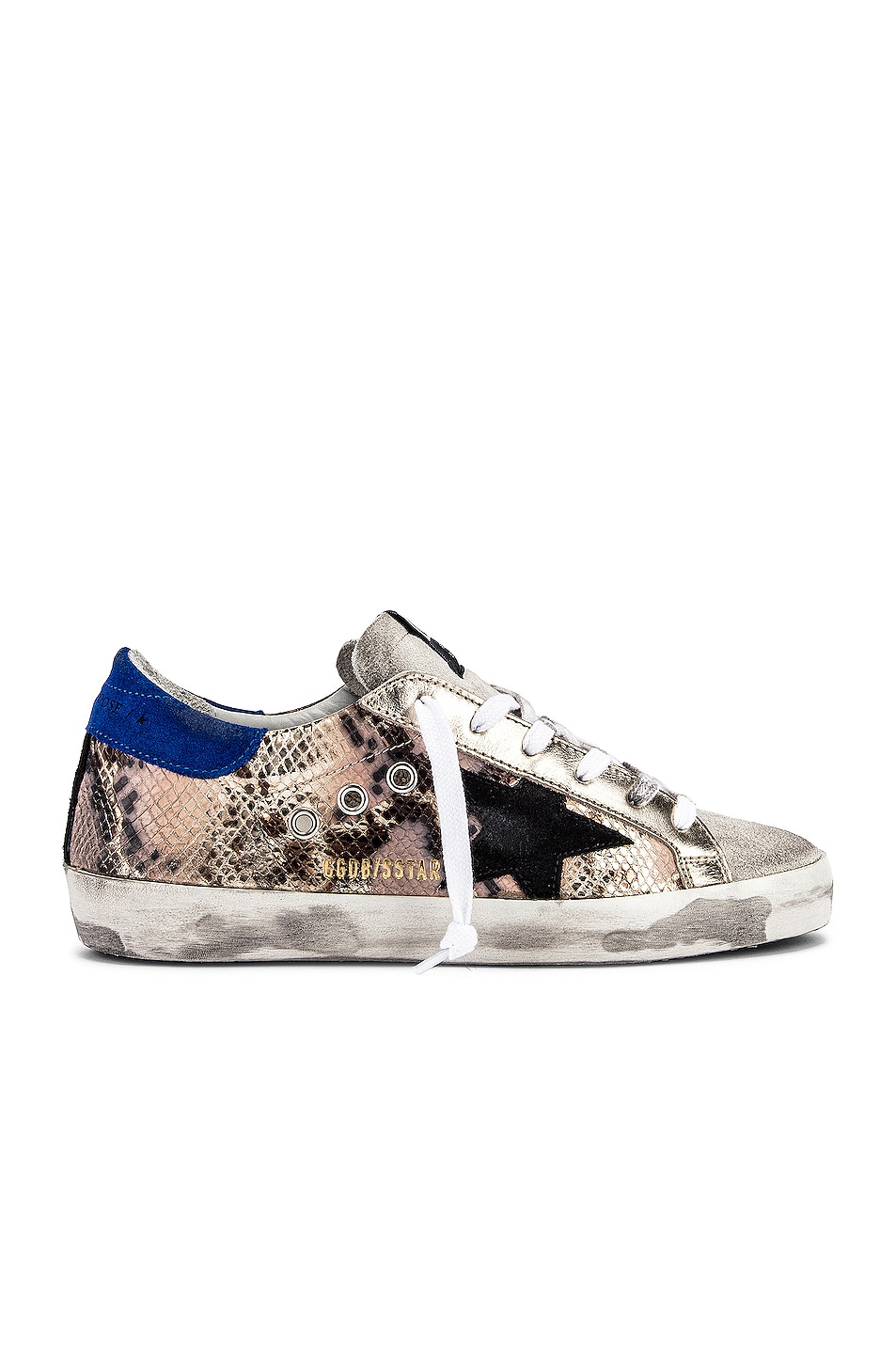 Image 1 of Golden Goose Superstar Sneaker in Python & Black Star