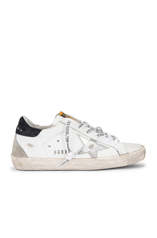 Image 1 of Golden Goose Superstar Sneaker in White, Silver & Black