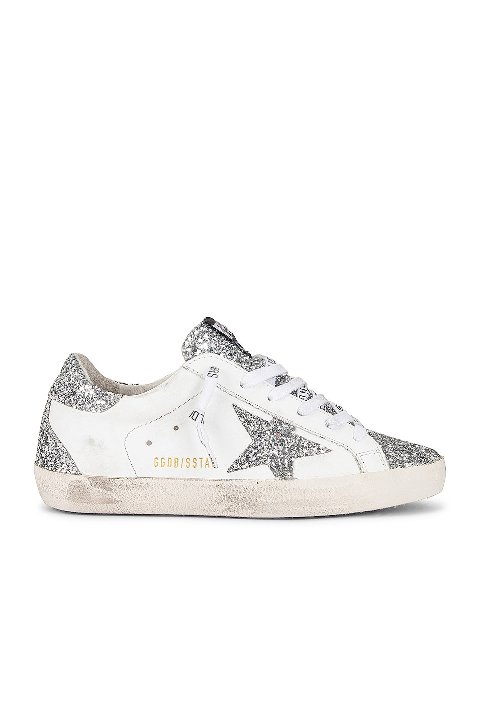 Image 1 of Golden Goose Superstar Sneaker in White & Silver