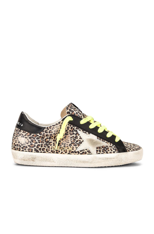 Image 1 of Golden Goose Superstar Sneaker in Beige, Brown, Leopard, and Ice